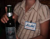 Photo of Asahi beer promotion woman in Siem Reap