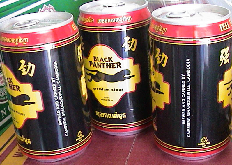 Photo of Black Panther beer in Siem Reap