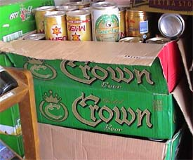 Photo of Gold Crown beer in Siem Reap