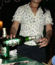 Photo of a Mittweida beer seller in Siem Reap
