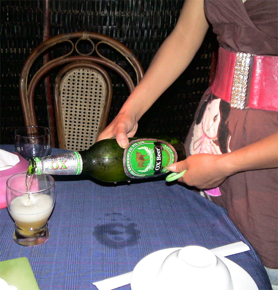 photo of Ox beer taken in Siem Reap
