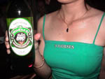 Photo of a Three Horses Beer promotion woman