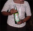 photo pf Valor beer promotion woman