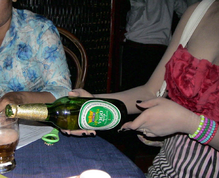 photo of Vigo beer promotion woman
